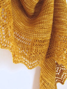 Ridgeline Shawl-- Knitting Patterns -- PDF Download