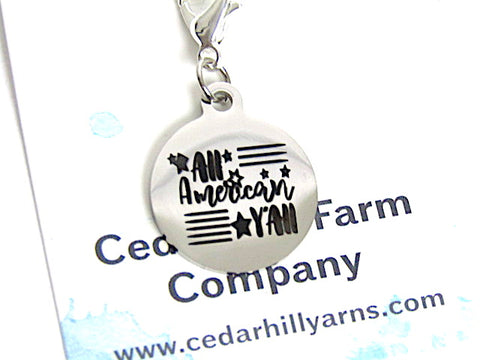 All American Y'all -- Engraved Stainless Steel -- Project Keeper & Zipper Pull