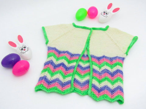Spring Cardigan -- Knitting Patterns -- PDF Download