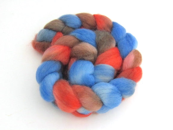 Barn Swallow -- Hand Dyed Roving -- Corriedale Top (4 oz.)