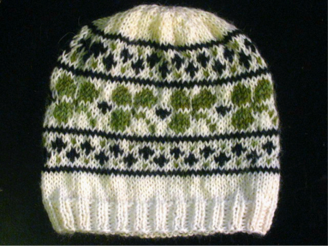 Bit O' Luck Hat -- Knitting Patterns -- PDF Download