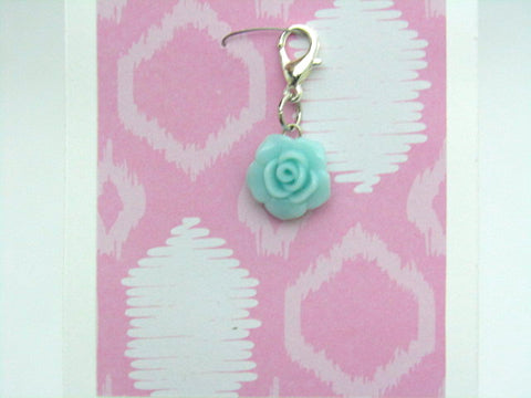 Blue Rose -- Project Keeper & Zipper Pull