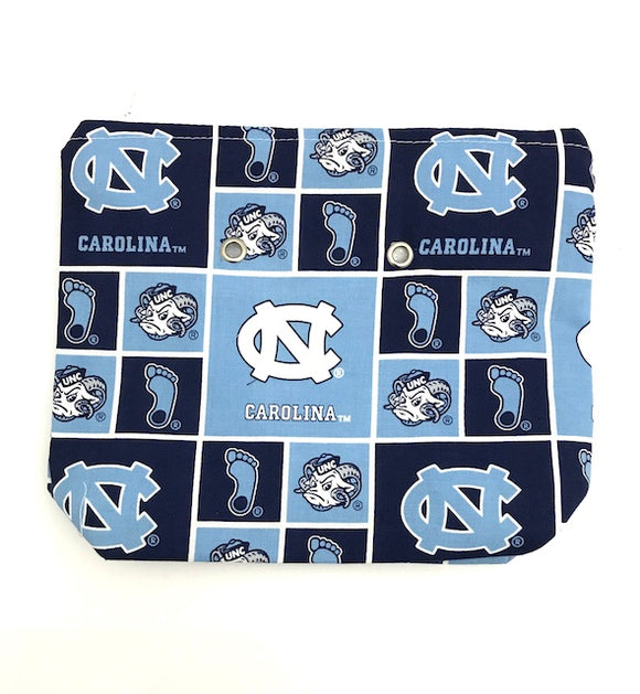 UNC Tarheels -- Handsewn Project Bag with Grommets (7