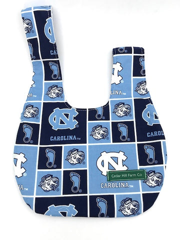 "Reversible Japanese Knot Bag (Small) --  UNC Tarheels -- 6.5"" by 9"""