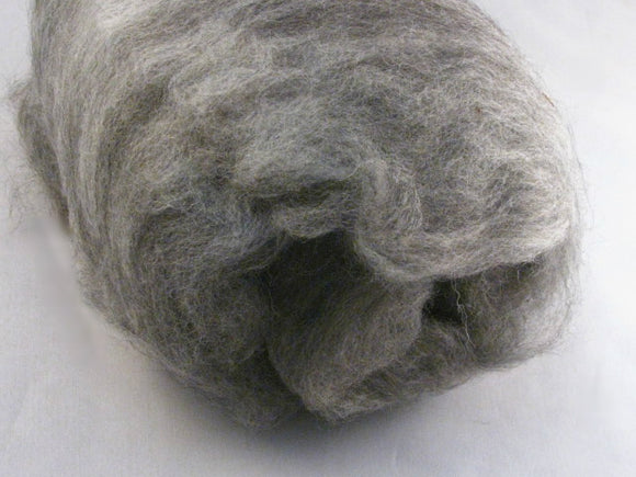 Dark Grey Alpaca Drum Carded Spinning Fiber (3.1 oz)