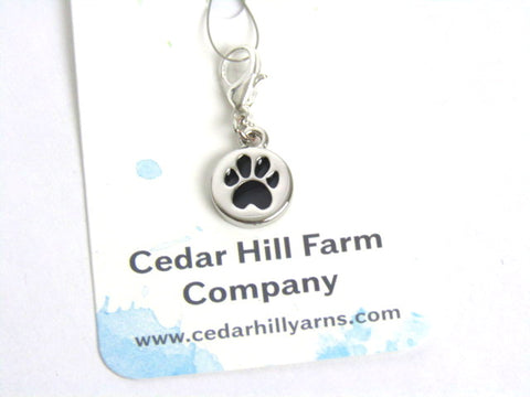 Dog Paw-- Engraved Stainless Steel -- Project Keeper & Zipper Pull
