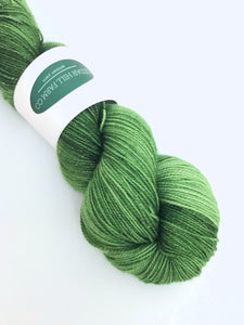 Elphaba -- 2-ply Superwash Merino/Nylon/Silver Stellina -- Sparkle Sock