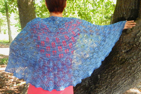 Arboretum Shawl-- Knitting Patterns -- PDF Download