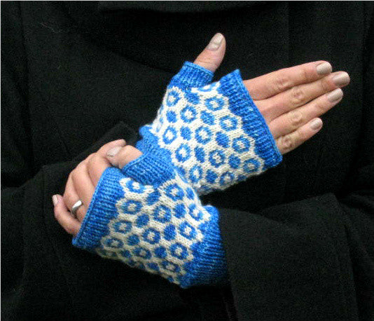 Inverse Fingerless Mitts -- Knitting Patterns -- PDF Download