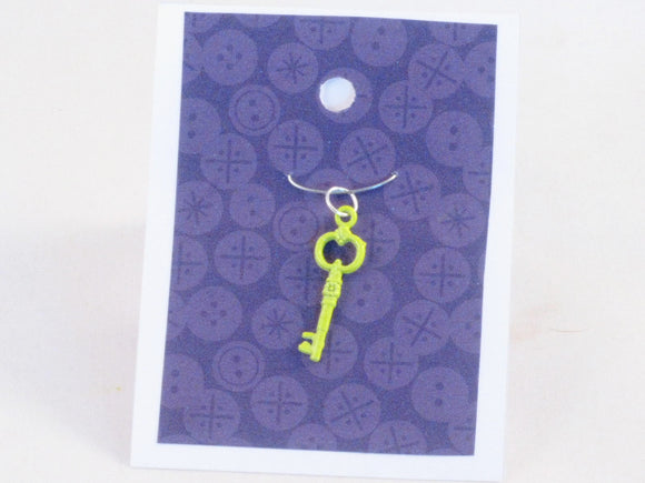 Skeleton Key (highlighter yellow) -- Project Keeper & Zipper Pull