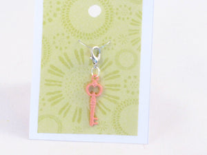 Skeleton Key (peach) -- Project Keeper & Zipper Pull