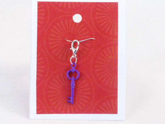 Skeleton Key (violet) -- Project Keeper & Zipper Pull
