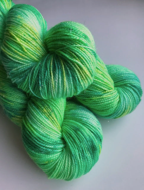 Lucky Charm -- 2-ply Superwash Merino/Nylon/Silver Stellina -- Sparkle Sock