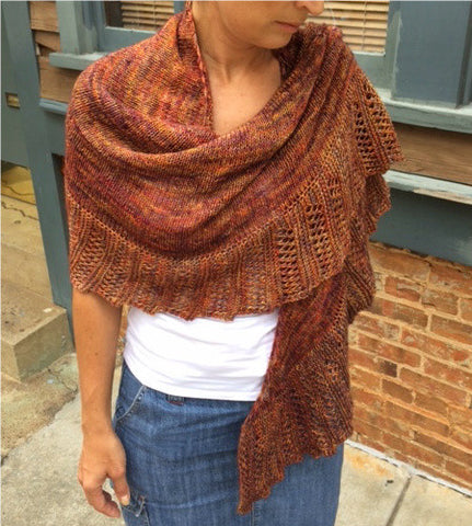 Market Street Shawl-- Knitting Patterns -- PDF Download