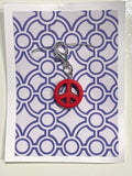 Peace Sign (multiple colors available) -- Project Keeper & Zipper Pull