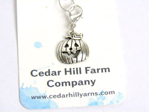 Jack O' Lantern-- Engraved Stainless Steel -- Project Keeper & Zipper Pull