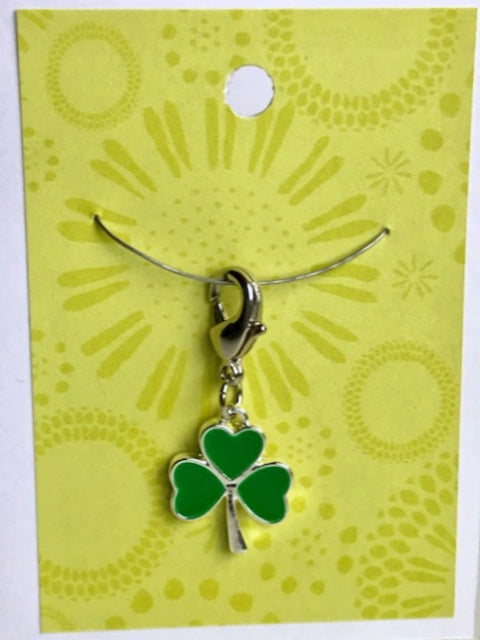 Enamel Shamrock  -- Project Keeper & Zipper Pull