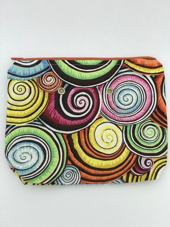 Spiral Shells -- Handsewn Project Bag with Grommets (7
