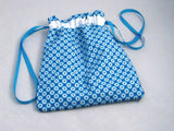 "Turquoise Geo Hand Sewn Self-locking Project Bag (8"" x 10)"