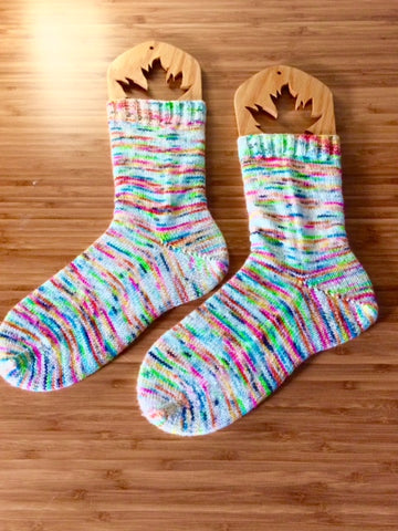 Basic Toe-Up Socks (2-at-a-time) -- Knitting Patterns -- PDF Download