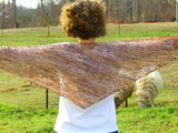 Wicker Asymmetrical Shawl -- Knitting Patterns -- PDF Download