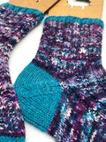 Worsted Weight Basic Toe-Up Socks (2-at-a-time) -- Knitting Patterns -- PDF Download