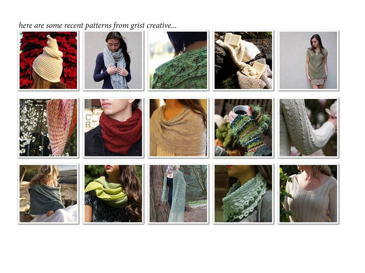 shawl & cowl collection