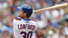 Michael Conforto hits off a tee, wants to beat May 1 target date