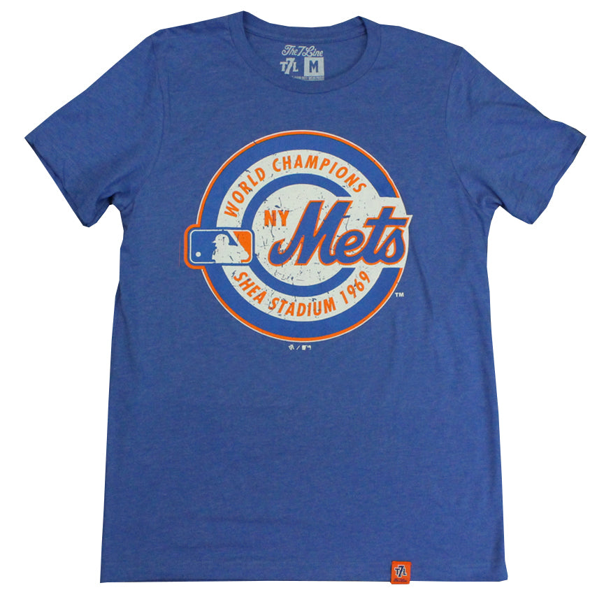 20e9b2e9 1969 WORLD CHAMPIONS t-shirt - The 7 Line - For Mets fans, by