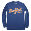1987 Heather Blue Long Sleeve - The 7 Line - For Mets fans, by Mets fans. An independently owned clothing/lifestyle brand supporting the Mets players and their fans.