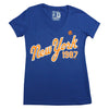1987 Blue v-neck (women's)