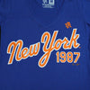 1987 Blue v-neck (women's) - The 7 Line - For Mets fans, by Mets fans. An independently owned clothing/lifestyle brand supporting the Mets players and their fans.