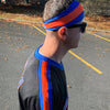 BLUE/ORANGE/BLUE HEADBAND