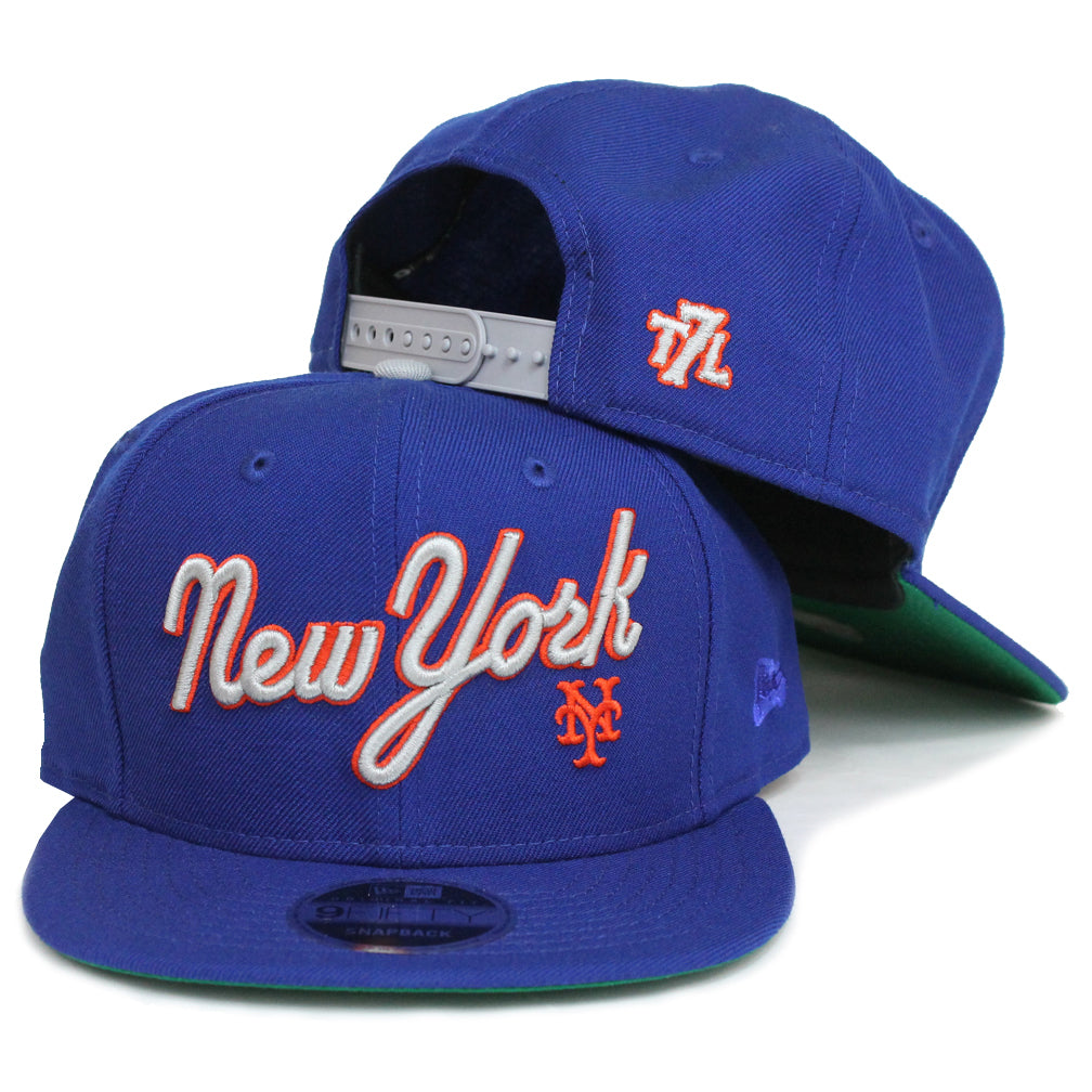 1987 Mets (ROYAL) - New Era Snapback - The 7 Line - For Mets f7854bb5bd1