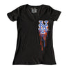 BLEED ladies v-neck - The 7 Line - For Mets fans, by Mets fans. An independently owned clothing/lifestyle brand supporting the Mets players and their fans.
