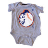 Emoji Mr. Met onesie - The 7 Line - For Mets fans, by Mets fans. An independently owned clothing/lifestyle brand supporting the Mets players and their fans.