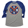LGM (3/4 sleeve) - Blue - The 7 Line - For Mets fans, by Mets fans. An independently owned clothing/lifestyle brand supporting the Mets players and their fans.