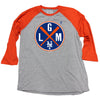 LGM (3/4 sleeve) - Orange - The 7 Line - For Mets fans, by Mets fans. An independently owned clothing/lifestyle brand supporting the Mets players and their fans.