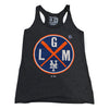 LGM - Ladies Tank (black) - The 7 Line - For Mets fans, by Mets fans. An independently owned clothing/lifestyle brand supporting the Mets players and their fans.