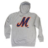 M Logo hoodie (GREY) - The 7 Line - For Mets fans, by Mets fans. An independently owned clothing/lifestyle brand supporting the Mets players and their fans.