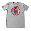 NY APPLE t-shirt (grey) - The 7 Line - For Mets fans, by Mets fans. An independently owned clothing/lifestyle brand supporting the Mets players and their fans.