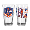 The 7 Line x Mets 16oz Pint Glass - The 7 Line - For Mets fans, by Mets fans. An independently owned clothing/lifestyle brand supporting the Mets players and their fans.