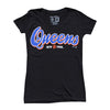 Queens Women's v-neck - The 7 Line - For Mets fans, by Mets fans. An independently owned clothing/lifestyle brand supporting the Mets players and their fans.