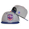 T7LA (heather) - New Era Snapback - The 7 Line - For Mets fans, by Mets fans. An independently owned clothing/lifestyle brand supporting the Mets players and their fans.