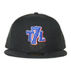 T7L x Mets (black) - New Era fitted - The 7 Line - For Mets fans, by Mets fans. An independently owned clothing/lifestyle brand supporting the Mets players and their fans.