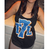 T7L Logo - Ladies Tank - BLACK - The 7 Line - For Mets fans, by Mets fans. An independently owned clothing/lifestyle brand supporting the Mets players and their fans.