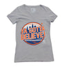 Ya Gotta Believe (ladies v-neck) - The 7 Line - For Mets fans, by Mets fans. An independently owned clothing/lifestyle brand supporting the Mets players and their fans.