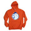 Emoji Mr. Met orange (hoodie) - The 7 Line - For Mets fans, by Mets fans. An independently owned clothing/lifestyle brand supporting the Mets players and their fans.