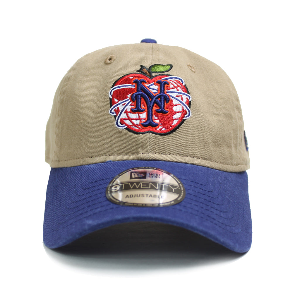 NY Apple - New Era adjustable (Khaki) - The 7 Line - For Mets b6c6a595f88