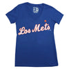 LOS METS ladies v-neck (royal) - The 7 Line - For Mets fans, by Mets fans. An independently owned clothing/lifestyle brand supporting the Mets players and their fans.